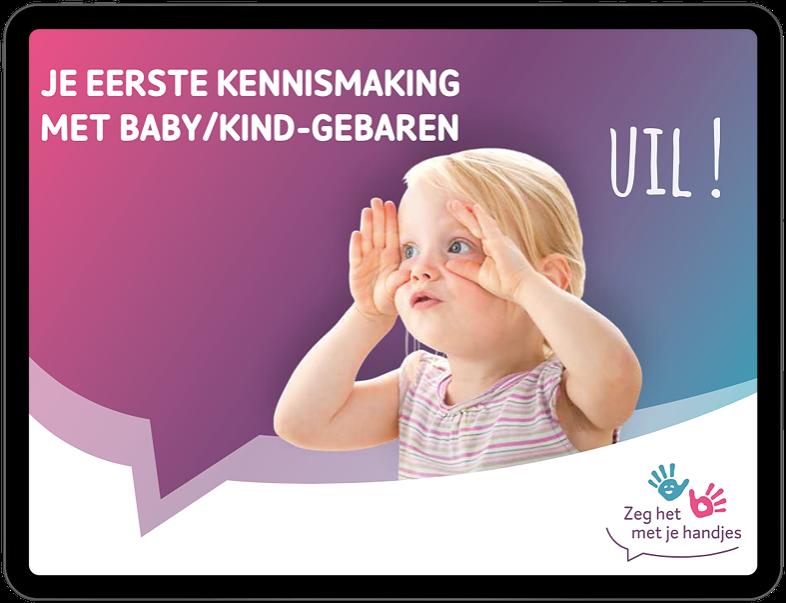 ebook kennismaken baby- en kindgebaren zeg het met je handjes