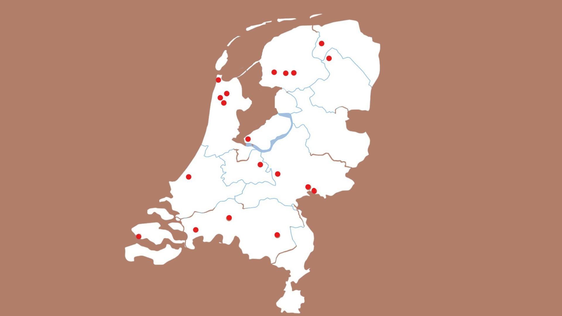 Kaart van Nederland aangepast AG V2